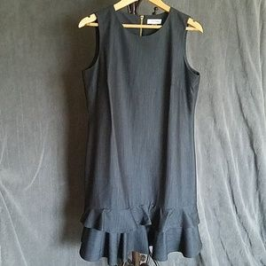 NWOT Calvin Klein Dress Dark Demin Look Size 12